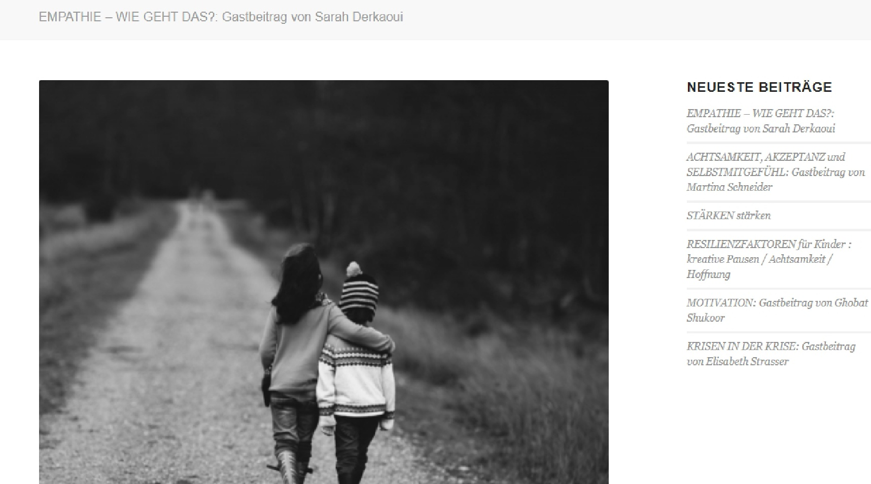 Blogtext zum Thema Empathie