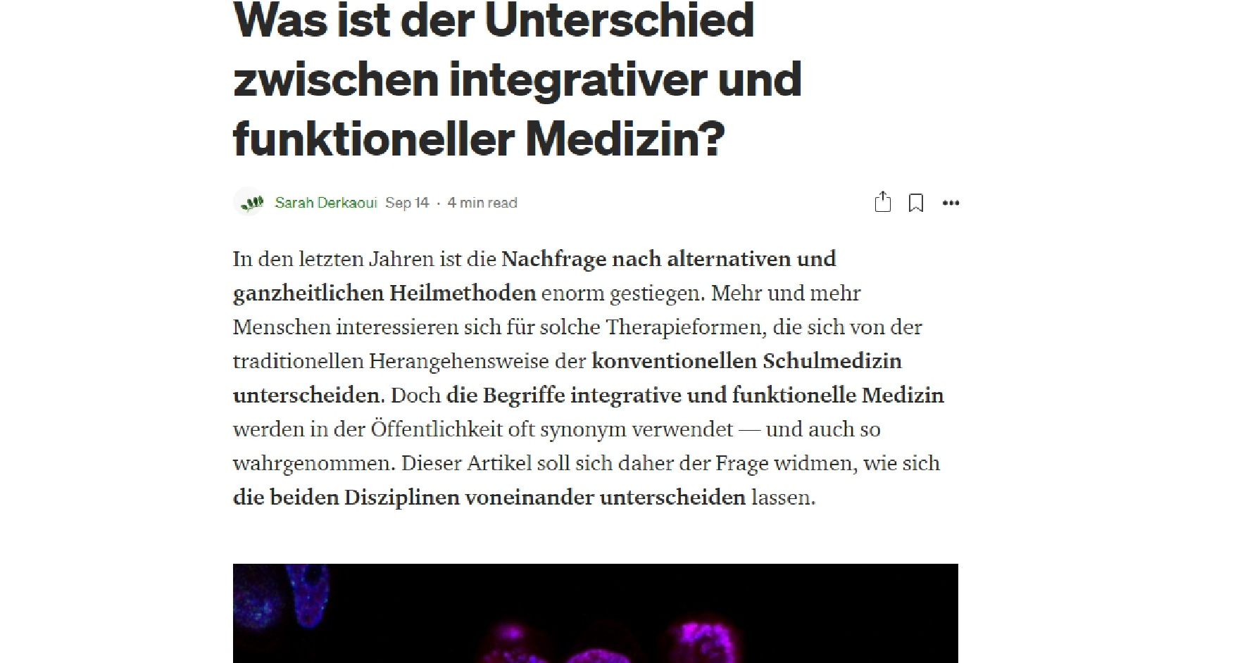 Blogartikel Integrative Medizin